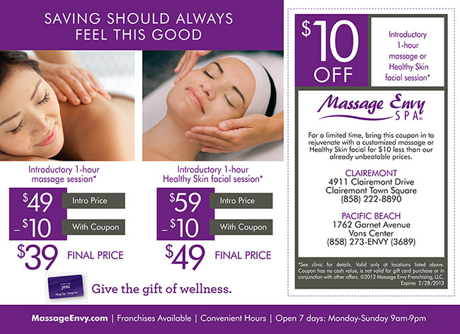 Massage envy coupons printable